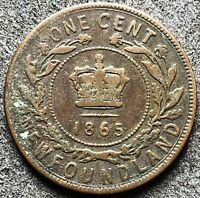 1865 NEWFOUNDLAND ONE CENT COIN   FREE COMBINED SHIPPING