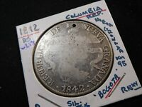 W217 COLOMBIA 1842 BOGOTA 8 REALES HOLED