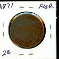 1871 UNITED STATES TWO CENT PIECE 2C COIN EG410