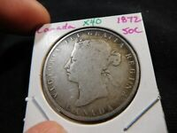 X40 CANADA 1872 50 CENTS
