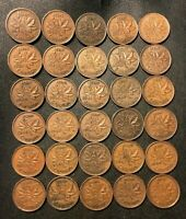 OLD CANADA COIN LOT   1940 1951   30 KING GEORGE VI PENNIES