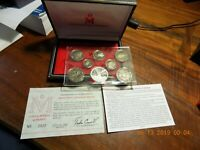 1982 83 COINAGE OF MEXICO 8 COIN PROOF SET   VERY SCARCE  93