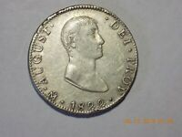 1822 MO JM IMPERIAL MEXICO AUGUST. ITURBIDE SILVER 8 REALES