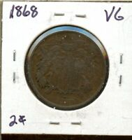1868 2C UNITED STATES TWO CENT PIECE SE550