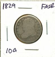 1829 UNITED STATES CAPPED BUST DIME 10C COIN BG772