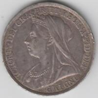 GREAT BRITIAN SILVER CROWN 1900 NICELY TONED