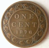 1876 H CANADA CENT   HIGH QUALITY EARLY DATE COIN   STRONG V