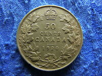 CANADA 50 CENTS 1920 KM25A