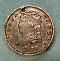 1830 CAPPED BUST SILVER HALF DIME CHOICE EXTRA FINE  DETAILS  US COIN 3626