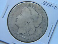 1893-O MORGAN SILVER DOLLAR  KEY DATE CLEANED