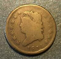 1814 CLASSIC HEAD LARGE CENT - LOWER MINTAGE -   TYPE COIN