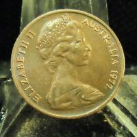CIRCULATED 1977 1 CENT AUSTRALIAN COIN 624191.FREE DOMESTIC SHIPPING