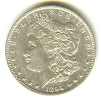 1894 P MORGAN DOLLAR AU    WHITE COIN 100  ORIGINAL KEY DATE