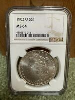1902 O $1 SILVER MORGAN DOLLAR COIN NGC MINT STATE 64  COLOR NEW ORLEANS MINT STATE