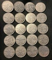 OLD CANADA COIN LOT   1923 1936   20 EXCELLENT KING GEORGE V