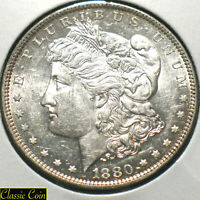 1880-O  MORGAN SILVER DOLLAR $1 UNCIRCULATED DETAILS  90 SILVER MEDIUM O