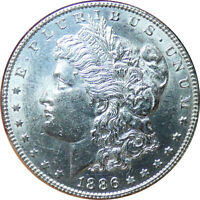 1886-P MORGAN SILVER DOLLAR UNC CONDITION - BMY