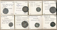 FASCINATING   8 FRENCH MEDIEVAL HAMMERED COINS WITH ATTRIB
