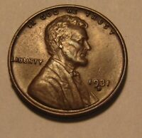 1931 S LINCOLN CENT PENNY   AU CONDITION   27FR