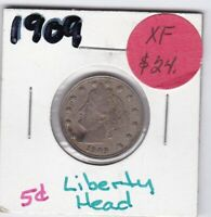 1909 LIBERTY NICKEL  EXTRA FINE  CONDITION
