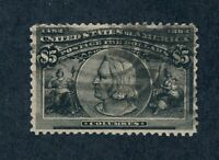 DRBOBSTAMPS US SCOTT 245 USED WELL CENTERED SOUND $5 COLUMBI