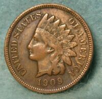 1909 S INDIAN HEAD PENNY VF  WITH LIBERTY & DIAMONDS   US CO