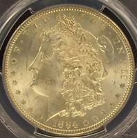 1884-P MORGAN SILVER DOLLAR PCGS MINT STATE 63 CHOICE UNCIRCULATED EXAMPLE