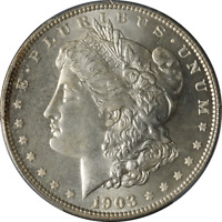 1903-O MORGAN SILVER DOLLAR PCGS MINT STATE 66 SUPERB EYE APPEAL STRONG STRIKE