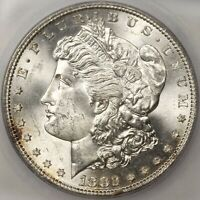 1882 S MORGAN DOLLAR SILVER COIN ICG MINT STATE 66 GEM BU UNC