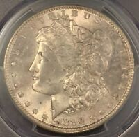 1890 MORGAN SILVER DOLLAR PCGS MINT STATE 63 CHOICE ORIGINAL