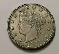 1883 WITH CENTS LIBERTY NICKEL 3612