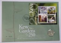 2009 FIRST DAY COIN COVER   250TH ANNIVERSARY KEW GARDENS 50