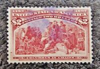 NYSTAMPS US STAMP  242 USED $650