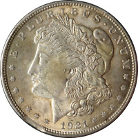 1921-P MORGAN SILVER DOLLAR ERROR CLIPPED PLANCHET GREAT DEALS FROM THE EXECUTIV