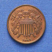 1864 TWO CENT VERY CHOICE LOTS OF RED  NO RESERVE.