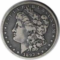 1893-O MORGAN SILVER DOLLAR VF UNCERTIFIED