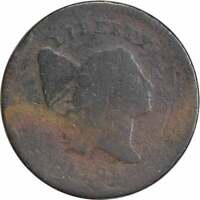 1795 HALF CENT, AG, UNCERTIFIED