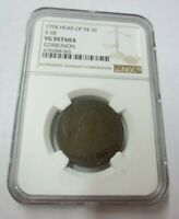 1794 HEAD OF 94 S-58 LIBERTY CAP LARGE CENT NGC VG DETAILS