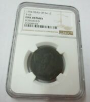 1794 HEAD OF 94 S-63 LIBERTY CAP LARGE CENT NGC FINE DETAILS BURNISHED