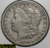 1899-S MORGAN SILVER DOLLAR $1 VF DETAILS 90 SILVER TOUGHER DATE