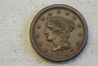 1851 1C BRAIDED HAIR LARGE CENT
