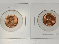 1958 P & D LINCOLN WHEAT CENT PENNY BU UNCIRCULATED