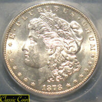 1878-S MORGAN SILVER DOLLAR $1 ICG MINT STATE 64 90 SILVER