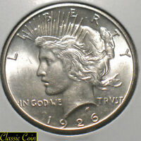 1926 SILVER PEACE DOLLAR $1 UNCIRCULATED DETAILS 90 SILVER