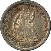 1850 LIBERTY SEATED SILVER HALF DIME AU SLIDER UNCERTIFIED