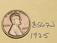 1925 1C BN LINCOLN CENT 8567W WHEAT CENT