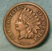 1860 INDIAN HEAD PENNY SOLID XF   US COIN