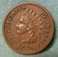 1884 INDIAN HEAD PENNY XF   US COIN