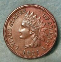 1885 INDIAN HEAD PENNY CHOICE AU DETAILS WITH LIBERTY & DIAM