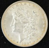 1897 BRILLIANT UNCIRCULATED MORGAN SILVER DOLLAR